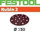 FESTOOL abrasive 10 pack, P80 grit - Dia. 150 mm
